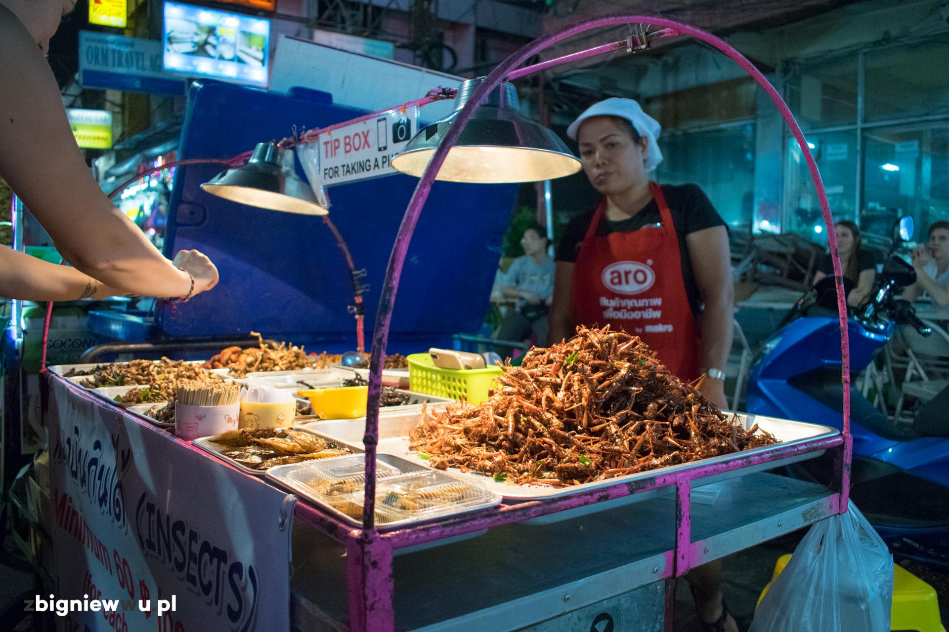 Insekty na Khao San Road
