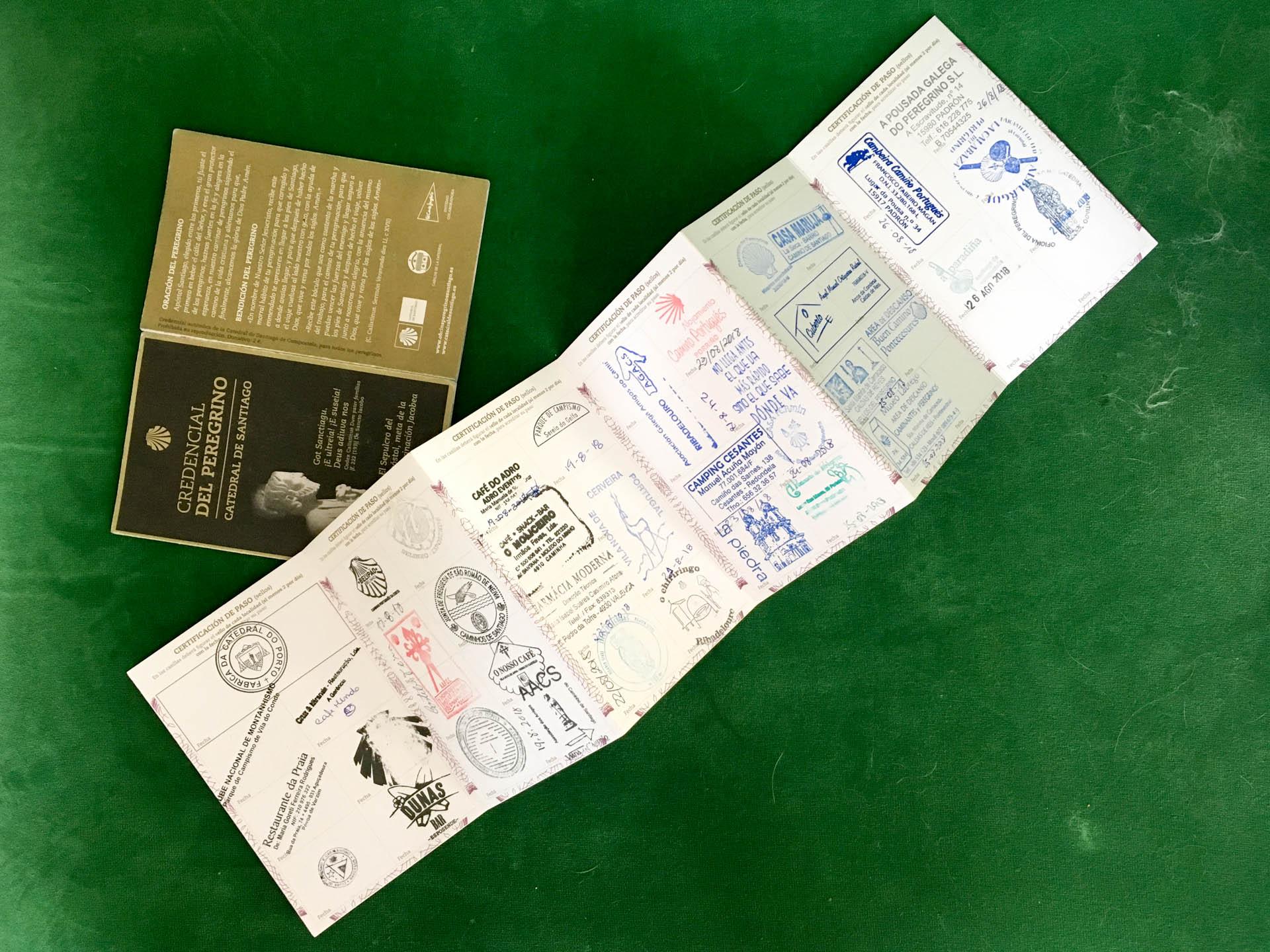 Paszport Pielgrzyma. Pieczątki z trasy Camino Portugalskie