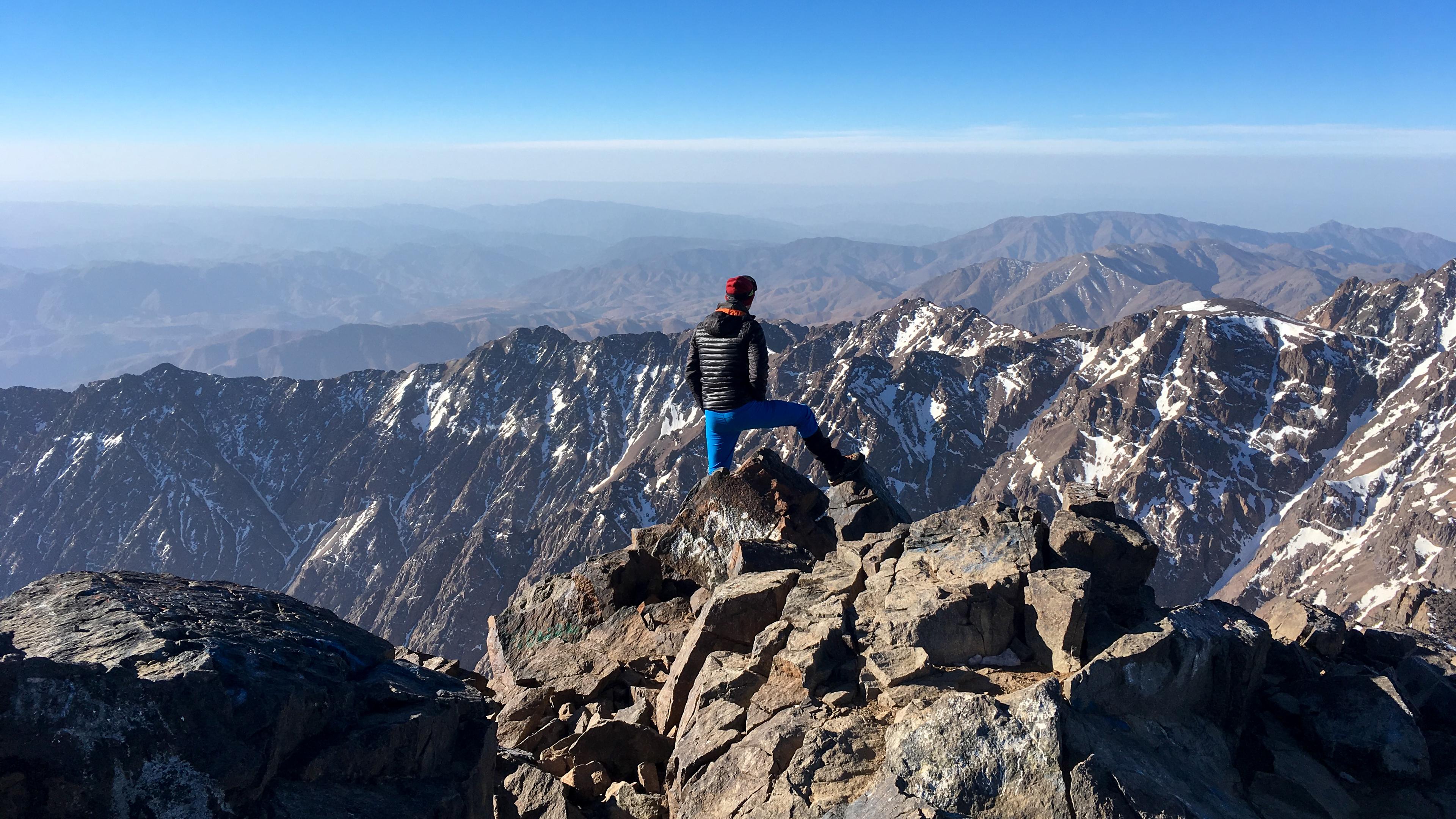Widok ze szczytu Jebel Toubkal