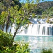 Park Narodowy Krka w Chorwacji obok miejscowości Skradin